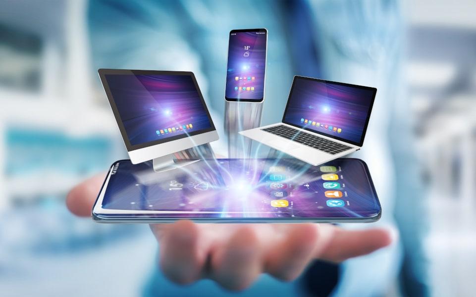 Phone, laptop, tablet